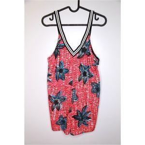 Zara TRF Size S Red Floral Romper